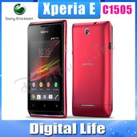 C1505 Oiginal Sony  Xperia E C1505  3G GPS WIFI  Bluetooth 4GB Unlocked Mobile Phone Free Shipping