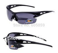 2014 New Quality Black Gray Fashion Men Polarized Sunglasses Sports Riding Glasses With Hook Hang Glass Box Bag Set j6j uh085
