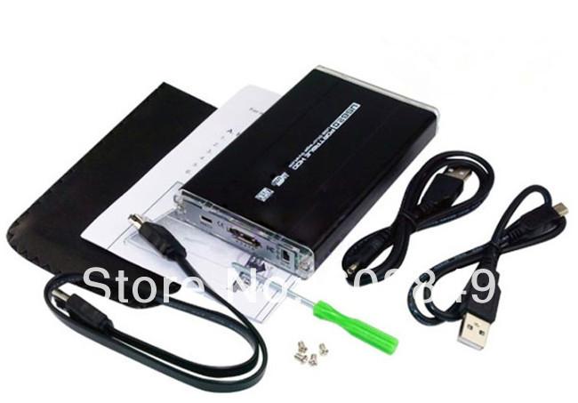 """New USB 2.0 2.5"""" eSATA External HDD Hard Disk Drive Enclosure Case Data Box free shipping(China (Mainland))"""