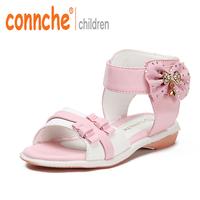 2015 shoes 2015 Connche Shoes  children  female child open toe shoe princess  baby   child sandals female shoes
