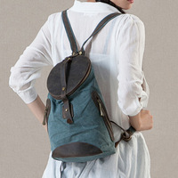 FREE SHIPPING 2014 spring vintage backpack fluid casual linen backpack travel bag personalized