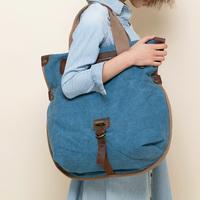 Spring fashion canvas casual handbag women's vintage one shoulder big bag cross-body bag travel