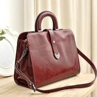 2014 women's handbag oil leather handbag one shoulder cross-body bag vintage bag work antique bag