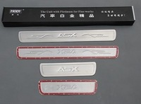 High Qualtiy 4pcs/lot Stainless steel scuff plate door sill strip car pedal welcome pedal for 2011~2013 Mitsubishi ASX