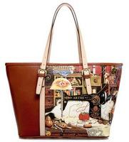 Aliexpress Shopping Festival shoulder bag of the cat cartoon portable women leather handbags hand handbag genuine leather bags