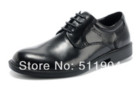 2014 Men Genuine Leather dress Shoes lace up polished leather business shoes free shipping