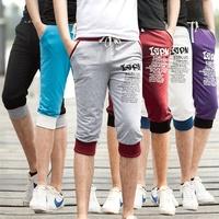 2014 New Casual Pants Male Sports Capris Casual Capris Male 7 Health Pants Male Shorts 7 Colors 4 Sizes