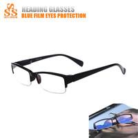 Big Sale Half Frame Blue Hard Resin Lens Reading Glasses,Vidros De Leitura,Lunettes De Lecture,Wholesale Lentes Para Leer G157