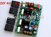 DIY  gao wen Gawain tube 2SA1943 2SC5200 output mono amplifier board adjustable A  discrete tube rear amplifier No welding