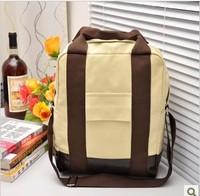 Female bags canvas backpack student school bag shoulder bag backpack preppy style bag multi-purpose bag