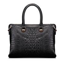 2015 dress solid new cow genuine leather handbags fashion crocodile black blue red yellow bag Imitation alligator grain