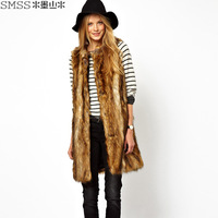 Smss 2014 women's spring fashion trend faux medium-long trend women's vest