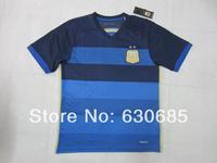 3A+++2014/15 season argentina away dark blue best quality fans version soccer football jersey, argentina National team jersey