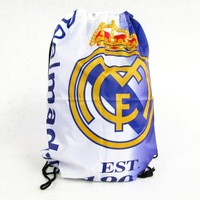 2014 free shippingFootball fans of Real Madrid Real Madrid draw supplies souvenir backpack shoes bag mouth