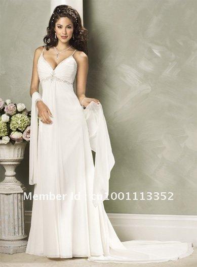 transporte vestido de noiva livre rendas- até backless sexy cintas de espaguete chiffon cetim oi-lo feito vestido de noiva(China (Mainland))
