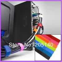 200 pcs / lot Multifunction Reusable Cable Tie Nylon Strap Power Wire Management Computer TV