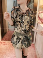 2014 spring women's long-sleeve chiffon one-piece dress slim basic o-neck short skirt a-line skirt