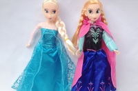 HOT sell 2pcs/lot frozen girls.frozen anna frozen elsa 33cm cartoon pvc figure toys for girl classic toy