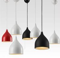 modern dining room aluminum pendant light,bar pendant lamps,E27 lighting 17cm diameter Red/Black/White for choice free shipping