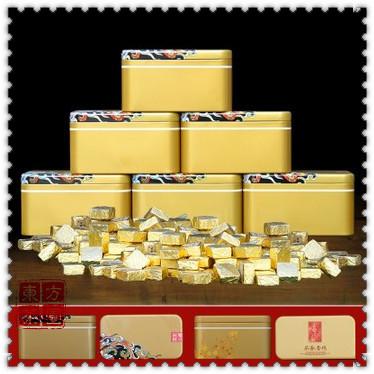 250g 40pcs10 Years Mini Brick Puer Tea Pu er Gift Set Puer Ripe Tea Pu er