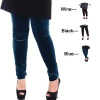 2014 Fashion Women Plus Size Leggings Elastic Velvet Big Size Long Pants For Spring Autumn & Winter 3 Colors Size 3XL 4XL 639