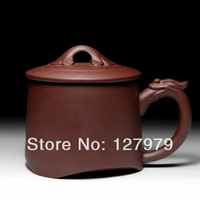Yixing purple sand pot, purple clay teacup, dragon style, Ruyi cups, puer ,oolong, green tea cup~