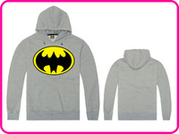 Free Shipping Online Stock Cheap Brand Batman Promotion Fashion Gray Color Hoodies Sweatshirts With Big Size XXL Do Mix Order