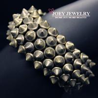 JOEY.Min.Order is $10 New Steampunk Exaggerated Bracelet Free Jewlery Alloy Rivet Bracelets & Bangles Freeshipping