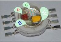 10 pcs 4W RGBW High Power LED Lamp Bead Red Green Blue White Light 1W Per Chip