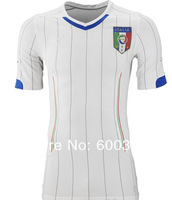 free shipping white new  italy  away  world cup 2014  best thailand quality  BALOTELLI  El  Shaarawy Pirlo soccer jersey