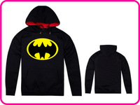 Free Shipping Online Stock Cheap Brand Batman Black New Men's Plush Thick Warm Hoodie Overcoat Winter Coat Fleece