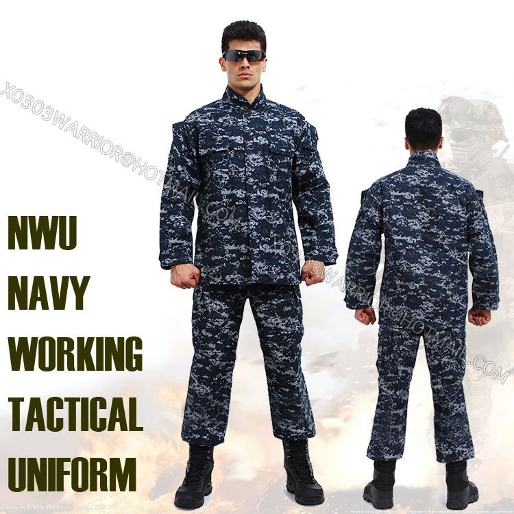 US Navy Digital ACU military uniform paintball suit set bdu hunting ...