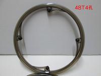 Folding bike crankset shield protection frame bicycle wheel gear plate 12cm 4 48t