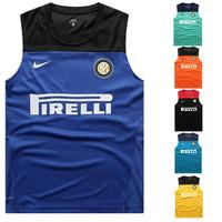 Championsleague 13 - 14 jersey sleeveless vest soccer jersey football training suit football jersey