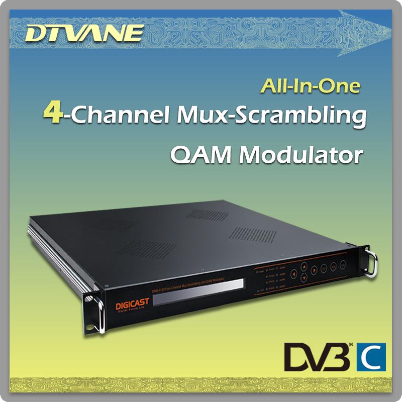 DMB-5120 4-CH ASI in Mux-Scrambler QAM Modulator_8xTuner _4 multiplexing+CA simulcrypt+adjacent frequency modulation(China (Mainland))