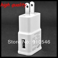 High Quality 50pcs/lot 2A White EU USB Wall Charger Power Plug For Samsung Galaxy Note 2 N7100 S3 S4 i9500 i9300