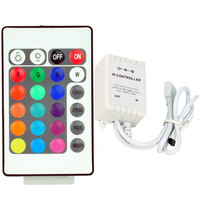 One Output 24Key IR Remote Controller For RGB 5050 3528 LED Strips 16 Colors LED Controller Free Shipping