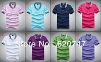 Free shipping High quality lowest price in net men's 100% cotton fashion  short sleeve T-shirt M L XL XXL XXXL