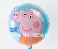 New Arrival 50pcs/lot Aluminum foil balloon helium balloon Peppa pig toys balloon
