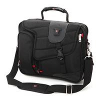 Black bag briefcase computer bag laptop shoulder bag Shoulder Messenger mobile business  Multi-pocket design