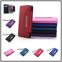 NEW ! 20pcs/lot For Samsung Galaxy S5 i9600 High quality Leather Magnetic Holster Flip Hard Case Cover holster B758