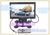 "new 2015 Wholesale high quality 7"" inch TFT Color LCD 2 Video Input Car RearView Headrest Monitor DVD VCR,free shipping"