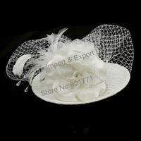 European style Bridal Hat hair jewelry  brooch flower wedding jewellry accessories  XH1003