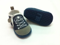 baby boy fake cross tied shoes first walkers jeans navy boy's shoes