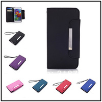 NEW ! 100pcs/lot For Samsung Galaxy S5 i9600 High quality Leather Magnetic Holster Flip Hard Case Cover holster B758