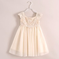 2014 New Baby Girl Spring Summer Bud Silk Dress Kid Fashion Summer Lace Dress Vest Dress Lovely Dress 6 pcs/lot