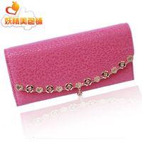 Wallet 2014 crystal flower flip design women's long wallet Women wallet fashion wallet purse