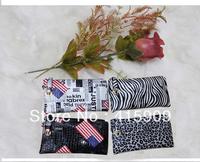 2014 new arrival fashion beautiful locked flag Leopard zebra pattern women's long wallet women's day clutches