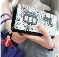 2014 new arrival l wallet female wallet carriage long design women's wallet women's purse