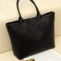 2014 autumn women's handbag plaid woven bag handbag casual bag big bags